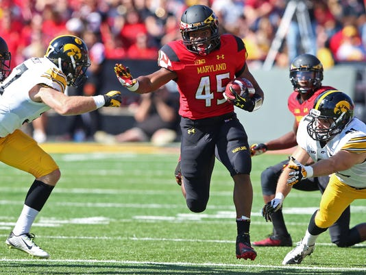 NCAA Football: Iowa at Maryland