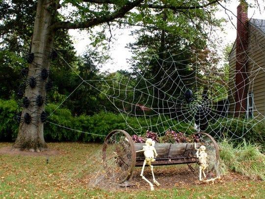 Jim Adams' Halloween display.