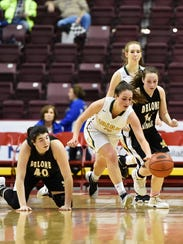 York Catholic's Gina Citrone tries to control the ball