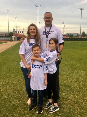 Jim Lavin with his wife Robyn, 6-year-old son Connor and 10-year-old daughter Hannah.