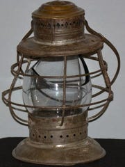 The lantern Kate Shelley used in 1881 when she crossed a 700-foot-long bridge during a storm to warn others of danger after another bridge collapsed.