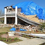 The Ogletree House on the University of Southern Mississippi campus was severely damaged by the 2013 tornado.