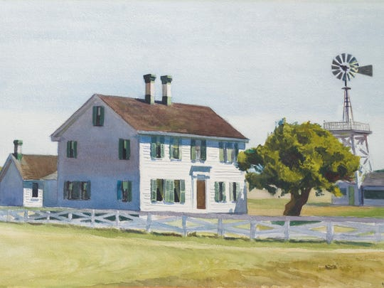 """Edward Hopper's """"Richs House"""" is part of the auction of the estate of David and Peggy Rockefeller by Christie's."""