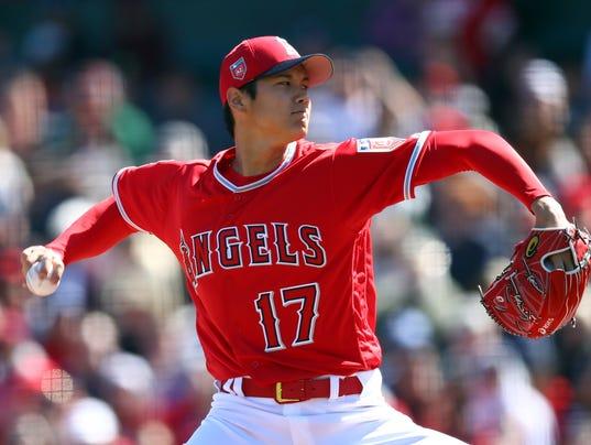 Shohei Ohtani pitching