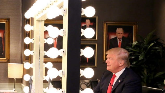 """Donald Trump on """"The Tonight Show Starring Jimmy Fallon"""" in 2015."""