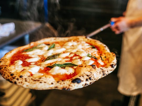 S. Egidio's Neapolitan pizza hot out of the oven