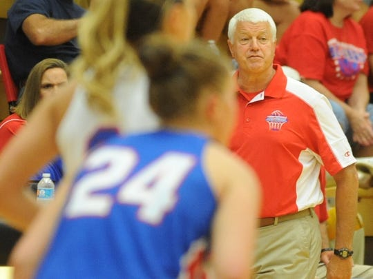 Rick Risinger coaches the Indiana All-Stars during