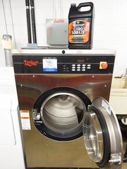 Foley Fire Department uses a washer-extractor to wash