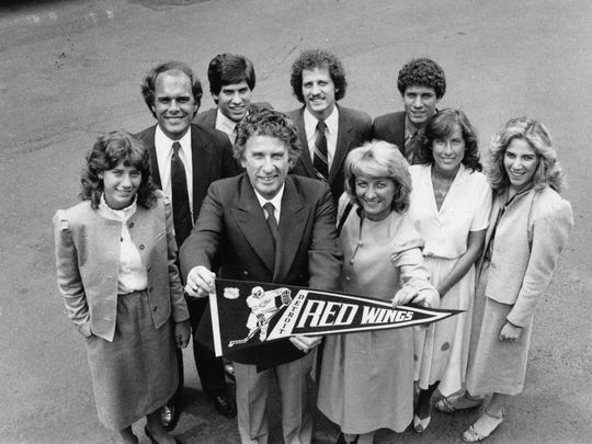 The Mike Ilitch family after the purchase of the Detroit Red Wings in June of 1982.