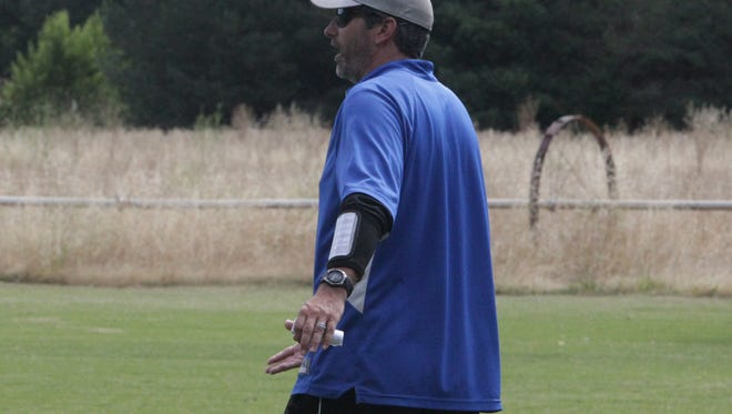 John Dutton, pictured during Lions All-Star North practice in June, is the new Mt. Shasta football coach.