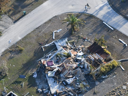 Damage in the community of Goodland,, near Marco Island