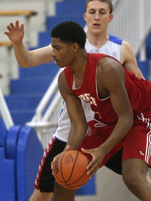 Lawrence North's Kevin Easley, right, is considered one of the state's top prospects in his class.