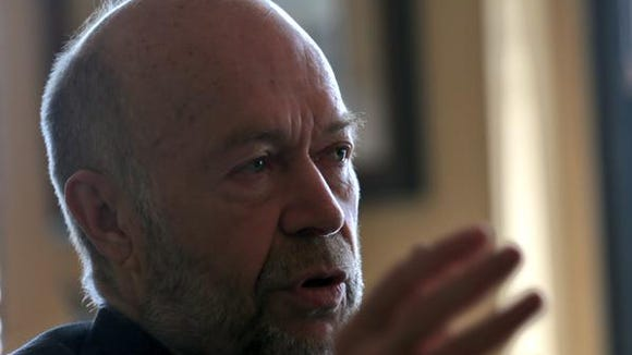 Climate scientist James Hansen speaks at a Democrat