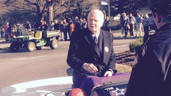 Actor Jon Voight rides in Gov. Matt Bevin's inaugural parade