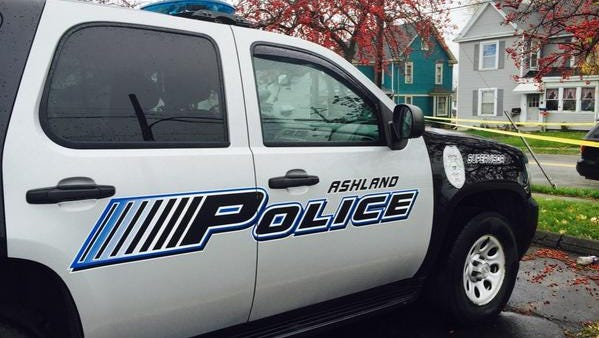 A manwas taken into custodyMonday morning in Ashland after authorities, spotting what appeared to be two people,searched a wooded areain the northeast portion of the city.