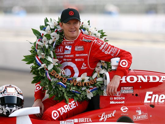 The 2008 Indy 500 winner, Scott Dixon, poses for a photo.  (Photo by Jamie Squire/Getty Images)