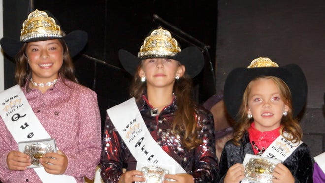The 2016 Southwestern New Mexico State Fair royalty includes, from left, Queen Hannah Mesa, Princess Emily Davenport, Junior Princess Kiley Ziller and Pee Wee Princess Kendahl Bingham.