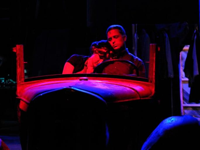 """Rebecca Coffey and Jonathan Wheeler star in the musical """"Bonnie & Clyde."""""""