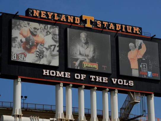 ENDplay photo of the Neyland Stadium Jumbotron at the