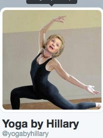 Account @yogabyhillary has been created in light of her e-mail controversy.