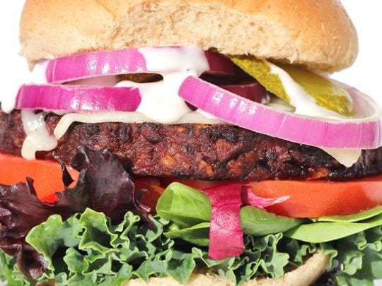 The Chipotle Black Bean Burger, made from scratch at CaJuol in Lehigh Acres.