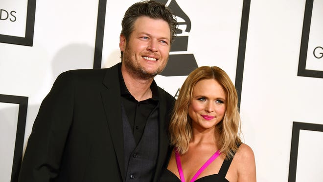 Blake Shelton and Miranda Lambert at the 57th annual Grammy Awards in Los Angeles, in February 2015.