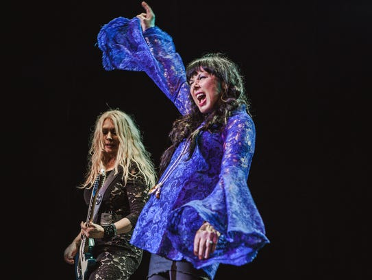 Heart (Nancy Wilson, left,  and Ann Wilson)