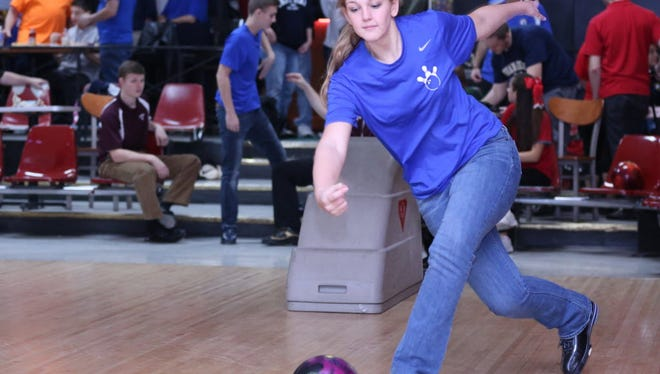 Hawthorne senior Madison Perry took home the girls title for high game and series at the Passaic County tournament.