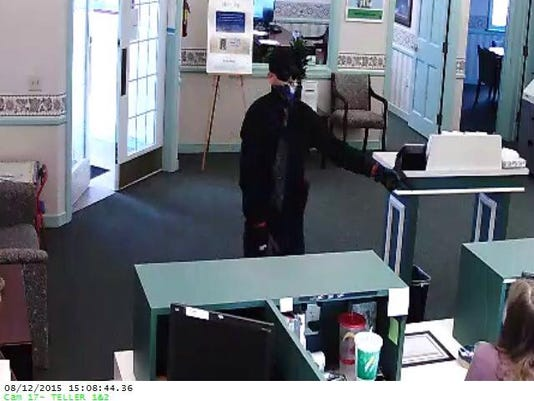 A second photo of the Carroll Township bank robbery suspect.