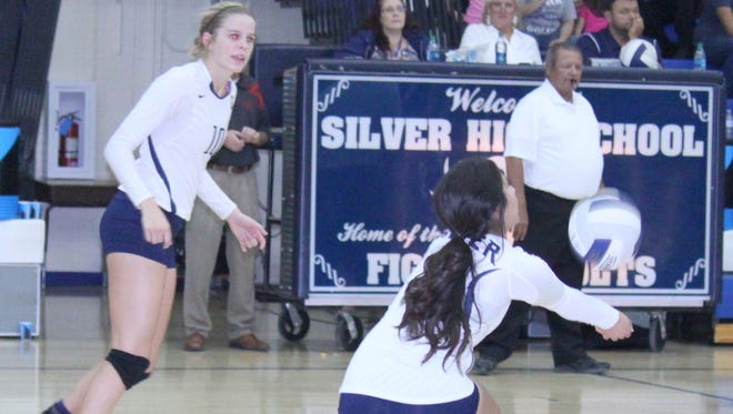 Silver's Shante Varela posted six digs against Hatch on Tuesday night. Megan Mattie led with 14 digs and 12 kills.
