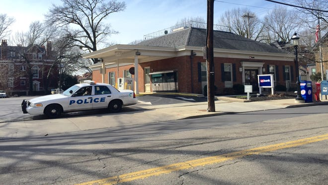 This U.S. Bank was robbed by a man armed with a handgun and wearing a black plastic bag over his head, according to police scanner reports.  The suspect fled on foot.
