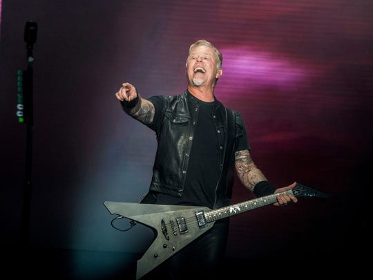 James Hetfield of Metallica performs at the 2017 Outside