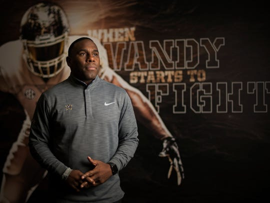Vanderbilt head football coach Derek Mason has led