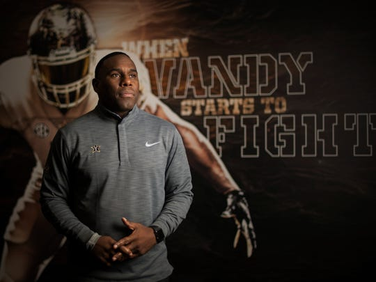 Vanderbilt head football coach Derek Mason has led his team to six wins and six losses for the 2016 season and will play in the Independence Bowl this year. Tuesday Dec. 20, 2016, in Nashville, Tenn.