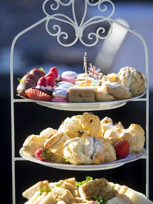 McCartney Tea & Talk offered delicious tea sandwiches and pastries during Azcentral Food & Wine Experience in Scottsdale on November 7, 2015.