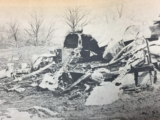 A mobile home used as an office at the city of Morganfield's landfill was completely destroyed by a fire from an undetermined origin in January of 1980. The loss was estimated at $3,000.