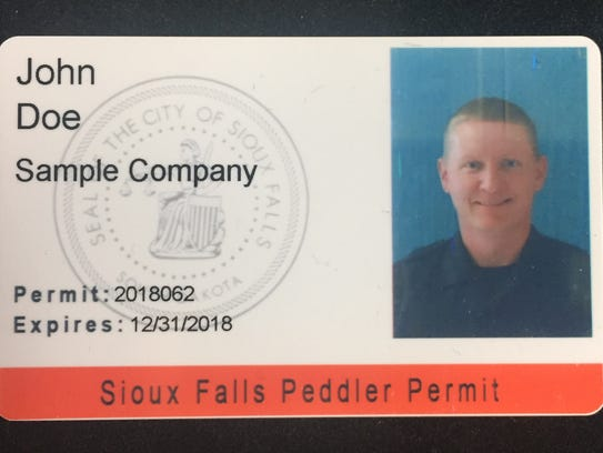 All sellers are required to carry a peddlers permit