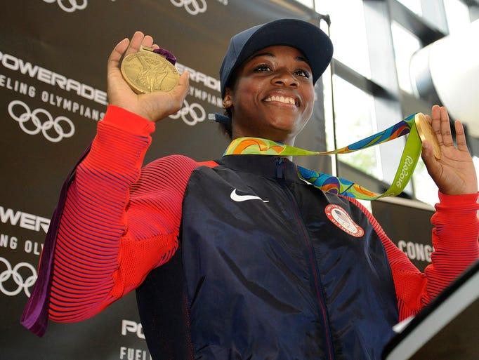 U.S. Olympic boxer Claressa Shields, a Flint native,