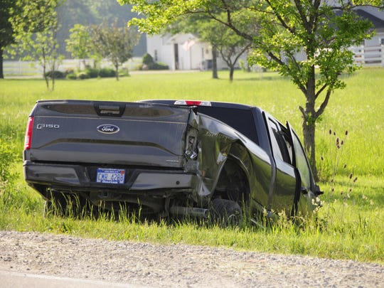 A Ford F-150 pickup was involved in a crash with an
