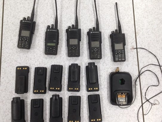 Some of the two-radios seized by Border Patrol agents