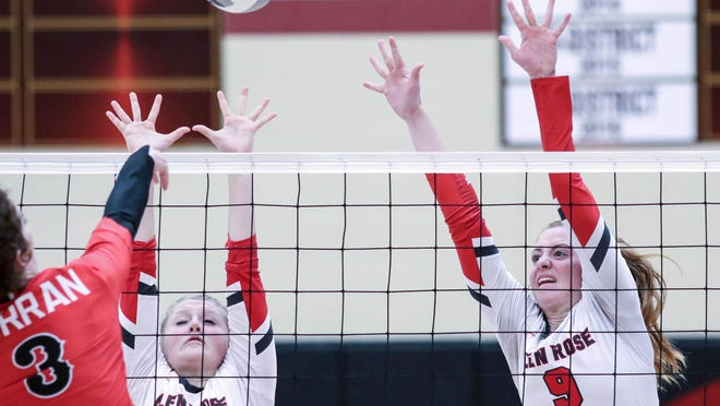 Glen Rose seniors Abby Koerner (1) and Alexis Mims (9) will be anchors up front for the Lady Tigers in 2020.