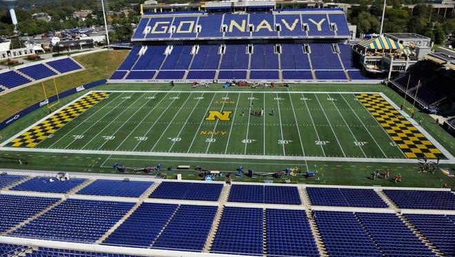 General view of Navy Marine Corps Memorial Stadium.