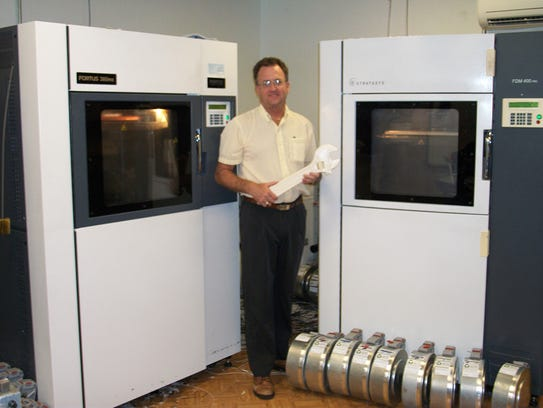 Ken Brace, owner of Rapid Prototype Services in Satellite