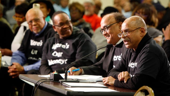 Dwight Tillery led hundreds of Black Agenda Cincinnati members to a special meeting of the City Council Budget and Finance Committee Monday night at the Community Action Agency in Bond Hill.