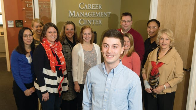 Ander Thompson, a College of Business student who has landed an internship and permanent job offer from Credit Suisse in New York, with the help of the College of Business Career Management Center staff.  Photo by CSU Photography.