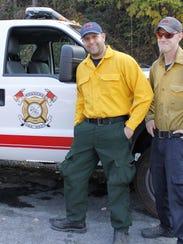 Edward Nieto, Ryan Baca and Christian Mee, firefighters