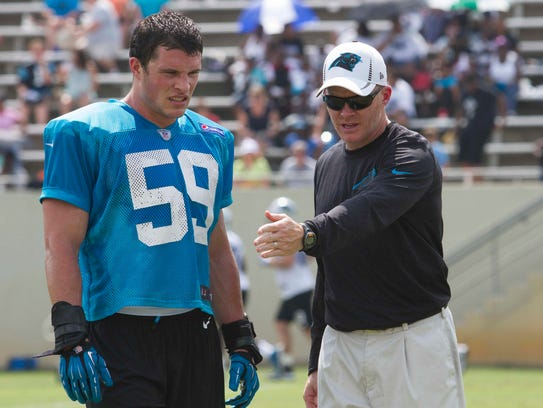 Sean McDermott discusses the Panthers defense with