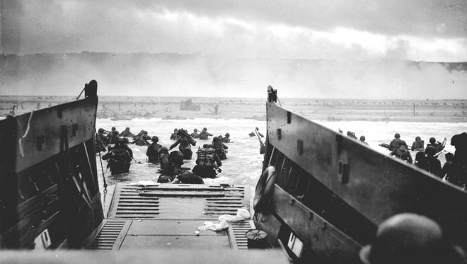 Troops from the 'Big Red One' landing on Omaha Beach