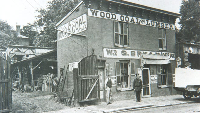 During the First World War, the firm of W.S. Bryan Coal and Wood, which stood on South Lewis Street, was the only local firm that had enough precious coal on hand to be able to deliver it upon demand.