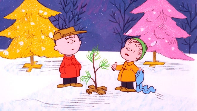 "Charlie Brown and Linus appear in a scene from ""A Charlie Brown Christmas,"" a television special based on the ""Peanuts"" comic strip by Charles M. Schulz.   ""Peanuts,"" the first full-length CG-Animated film based on Schulz's comic strip, which ran from October 1950 to February 2000, will hit theaters November 6, 2015."